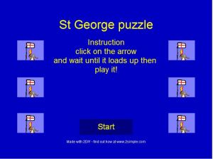 St Georges Day Jigsaw made with 2DIY