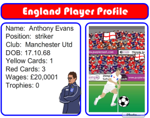 """Purple Mash"" ""England Player Profile"""